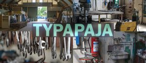 Kuvassa on Typa-pajan työkaluja ja varasto.
