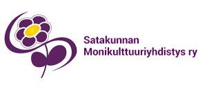 Kuvassa on Satakunnan Monikulttuuriyhdistyksen logo.