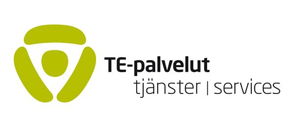 Kuvassa on Te-palveluiden logo.
