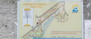 Kuvassa on Pomarkun Frisbeeradan kartta.