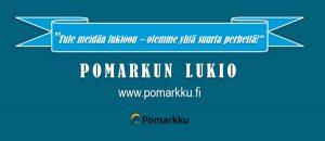 Kuvassa on Pomarkun lukion logo.