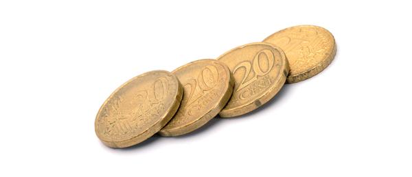 Kuavssa on 20 sentin kolikoita.