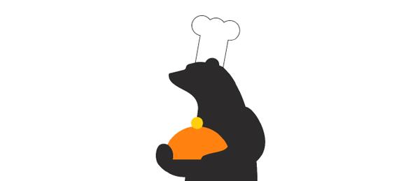Kuvassa on Porin maskottikarhu kokin hattu päässä.