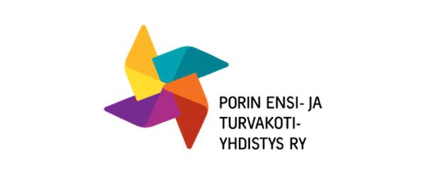 Kuvassa on Porin ensi- ja turvakotiyhdistyksen logo.